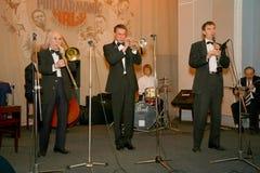 Los viejos jazzmen dan la impulsión Fotografía de archivo