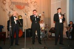 Los viejos jazzmen dan la impulsión Foto de archivo libre de regalías