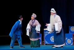 Los viejos pares y el pabellón adoptado de la brisa de la ópera del šJiangxi del ¼ del sonï fotografía de archivo