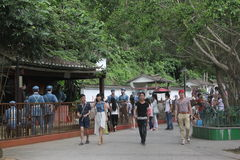 Los visitantes al ¼ Œshenzhen, China de Parkï del ejército rojo Fotografía de archivo