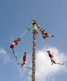 Los Voladores de Papantla Mexico Stock Photo