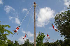 Los Voladores de Papantla Mexico Stock Photography
