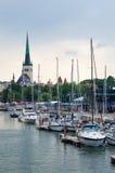 Los yates vienen celebrar los días del mar en Tallinn fotos de archivo libres de regalías