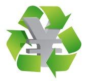 Los yenes reciclan Fotografía de archivo libre de regalías