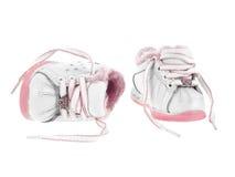 Los zapatos de bebé desataron Imagen de archivo libre de regalías