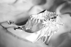 Los zapatos de la boda Imágenes de archivo libres de regalías