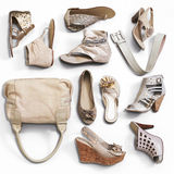 Los zapatos de la mujer imagenes de archivo