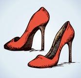 Los zapatos de las mujeres Gráfico del vector Fotos de archivo libres de regalías