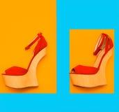 Los zapatos de las señoras atractivas fotos de archivo