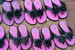 Los zapatos de las señoras rosadas fotografía de archivo libre de regalías