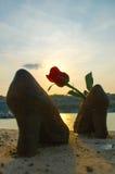 Los zapatos del Danubio Foto de archivo libre de regalías