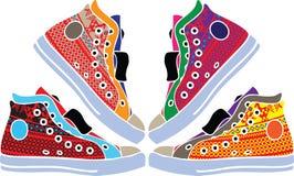 Los zapatos del deporte diseñan la ilustración Foto de archivo libre de regalías