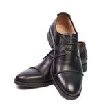 Los zapatos del hombre negro Fotografía de archivo libre de regalías
