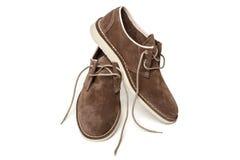 Los zapatos marrones del hombre Fotografía de archivo