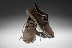 Los zapatos marrones del hombre Imagen de archivo libre de regalías