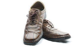 Los zapatos son viejos Imagenes de archivo