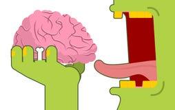 Los zombis comen cerebros Los muertos verdes comen la delicadeza del autor central libre illustration