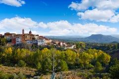 Losa del Obispo by i Valencia Spanien Fotografering för Bildbyråer