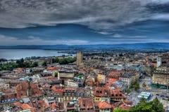 Losanna, Svizzera, HDR Fotografie Stock Libere da Diritti