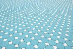 Losas azules, modeladas pavimentando las tejas, CCB del piso del ladrillo del cemento imagen de archivo