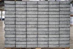 Losas cuadradas grises del pavimento del hormigón o del adoquín Fotos de archivo
