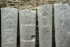 Losas graves medievales de Kilmartin en Escocia Fotos de archivo libres de regalías