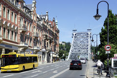 Loschwitzer Bridge of Dresden in Saxony Royalty Free Stock Photography