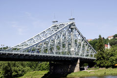 Loschwitzer Bridge of Dresden in Saxony Royalty Free Stock Photography