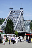 Loschwitzer bro av Dresden i Sachsen Royaltyfria Foton