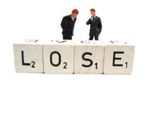 Lose !. Losing money after a bad investment stock photography