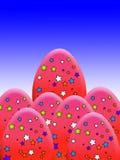 Stern bedeckte Eier Lizenzfreie Stockfotos