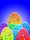 Stern bedeckte Eier Stockbild