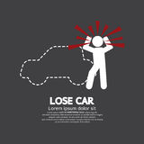 Lose Car Concept Graphic Symbol Royalty Free Stock Images