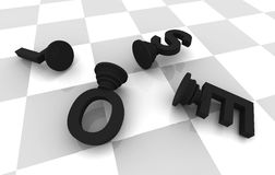 Lose Chess Game Stock Images