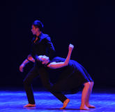 Lose depend on-should've sald,I love you-Modern dance. In December 19, 2014, Shi Feifei the dancer dance work session held in the South hall. His teacher is the Royalty Free Stock Photo