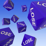 Lose Dice Background Showing Failure Royalty Free Stock Photography