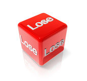 Lose red dice Stock Images