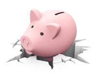 Lose savings. 3d generated picture of an inflation concept royalty free illustration