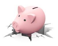 Lose savings Royalty Free Stock Photos