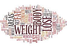 Lose The Stomach Fat Everyone Has Trouble Spots Text Background  Word Cloud Concept Royalty Free Stock Photo
