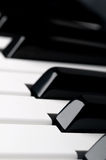 Lose up of piano keyboard keys Royalty Free Stock Image