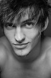 Сlose-up portrait of  male model Stock Photography