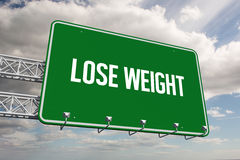 Lose weight against sky Royalty Free Stock Images