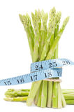 Lose weight concept, Asparagus with tape Stock Image