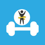 Lose weight concept dumb bell icon Royalty Free Stock Photo