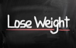 Lose Weight Concept. Concept Handwritten With Chalk On A Chalkboard Stock Images