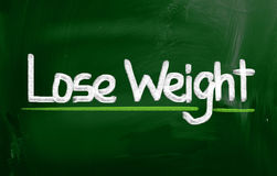Lose Weight Concept. Concept Handwritten With Chalk On A Chalkboard Royalty Free Stock Photography