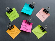 Lose Weight. Concept on sticky notes Stock Photos
