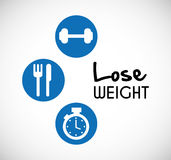 Lose weight design Royalty Free Stock Image