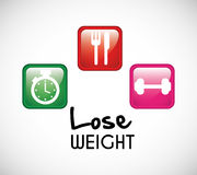 Lose weight design Royalty Free Stock Photos
